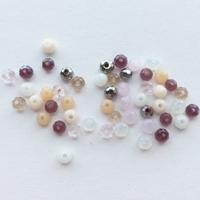 Blandede perle pakker facetslebne glasperler