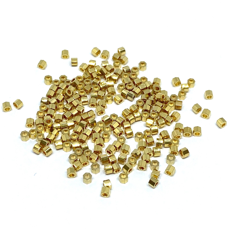 Miyuki 24kt guld belagte perler - alle faconer