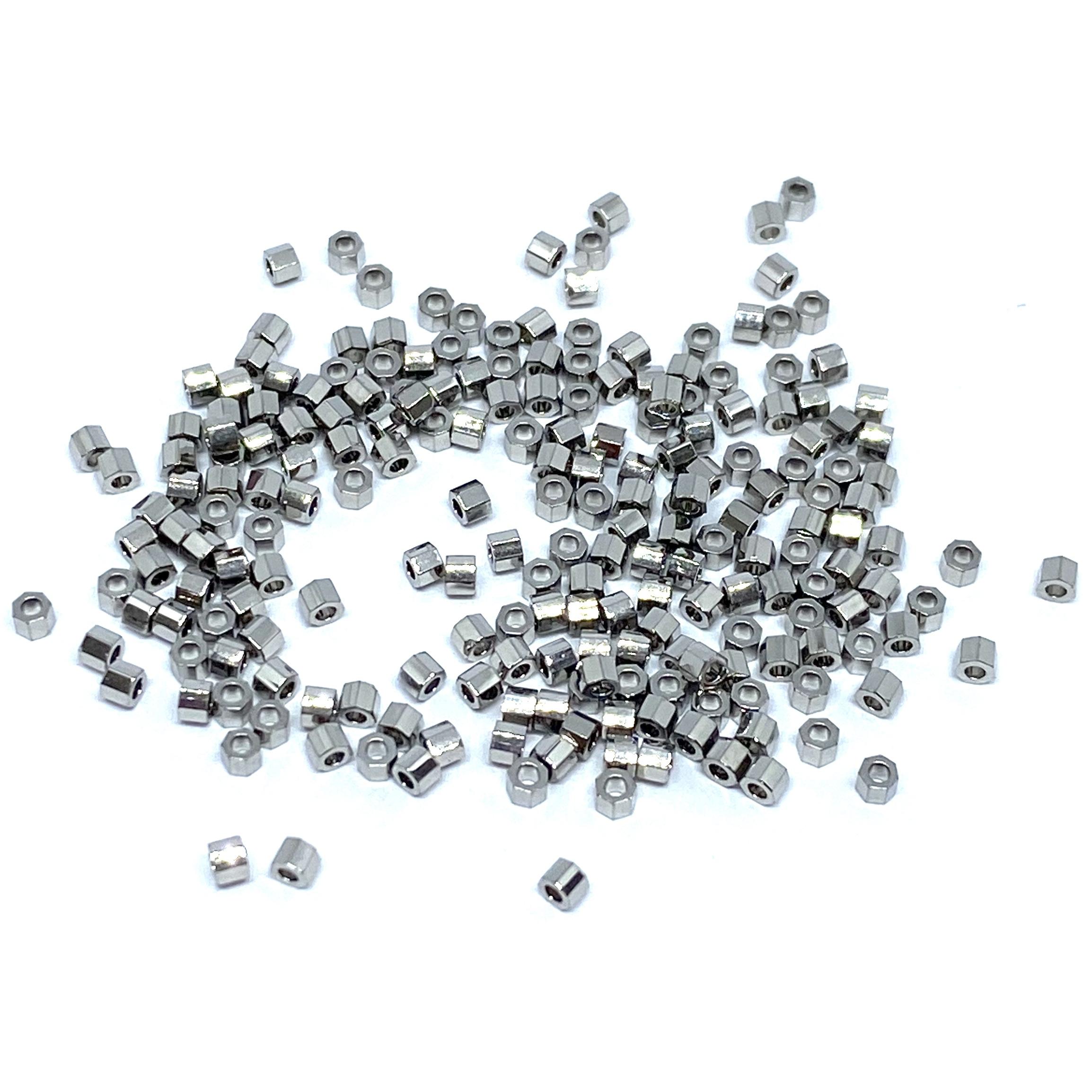 Miyuki Sterling sølv og palladium belagte perler - alle faconer