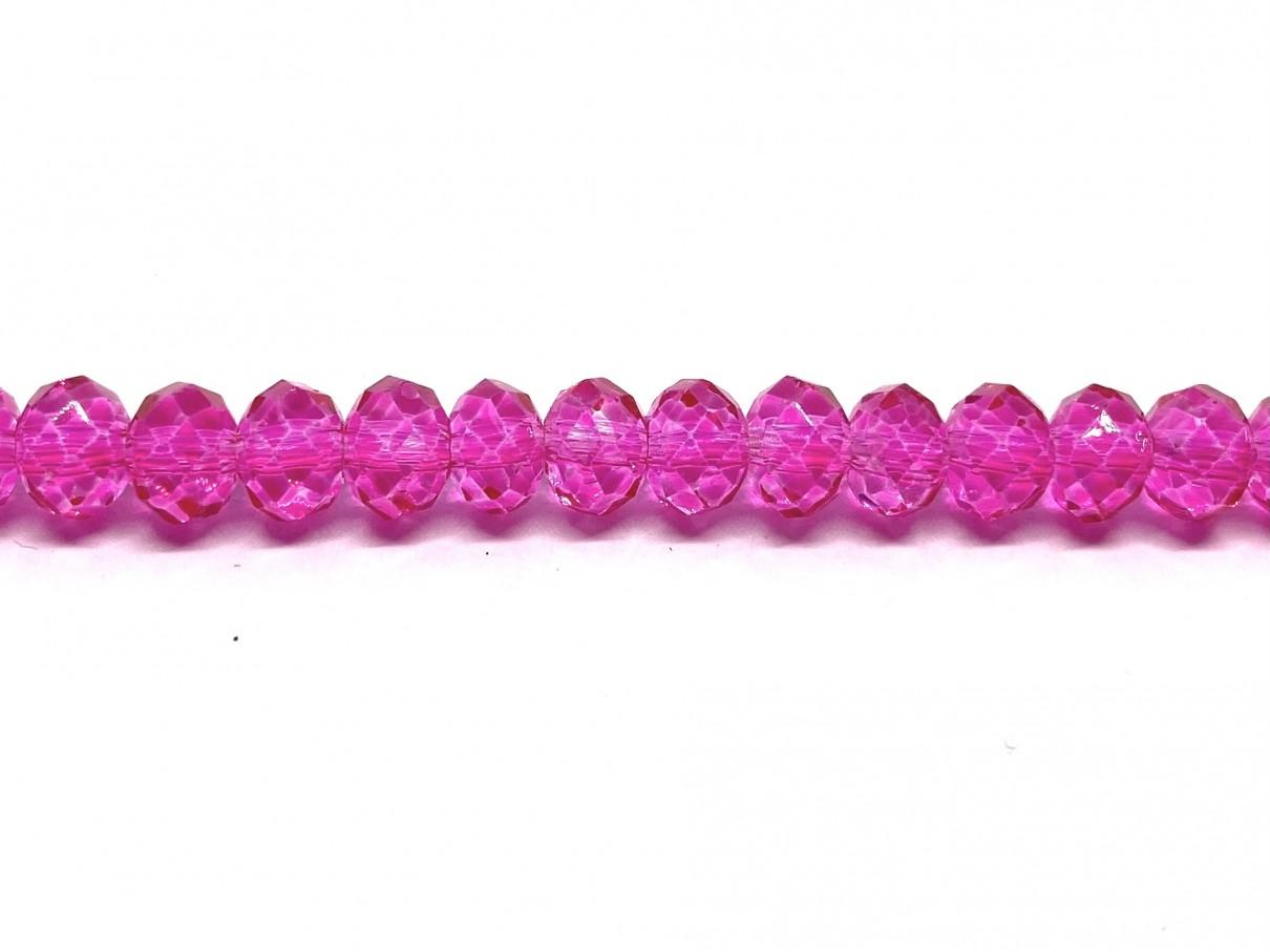 pink facetslebne glasperler