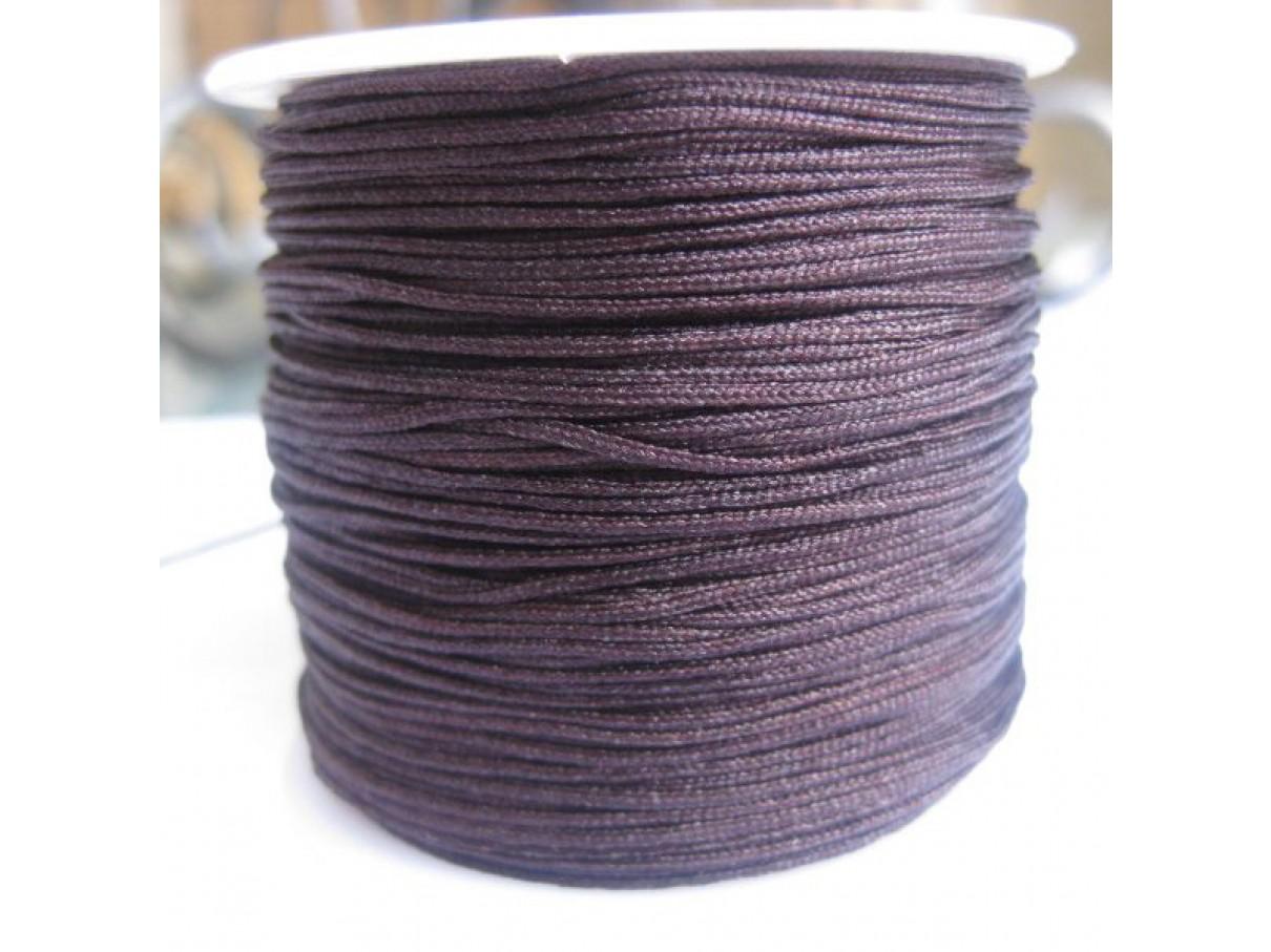 1,0mm nylon knyttesnor, brun