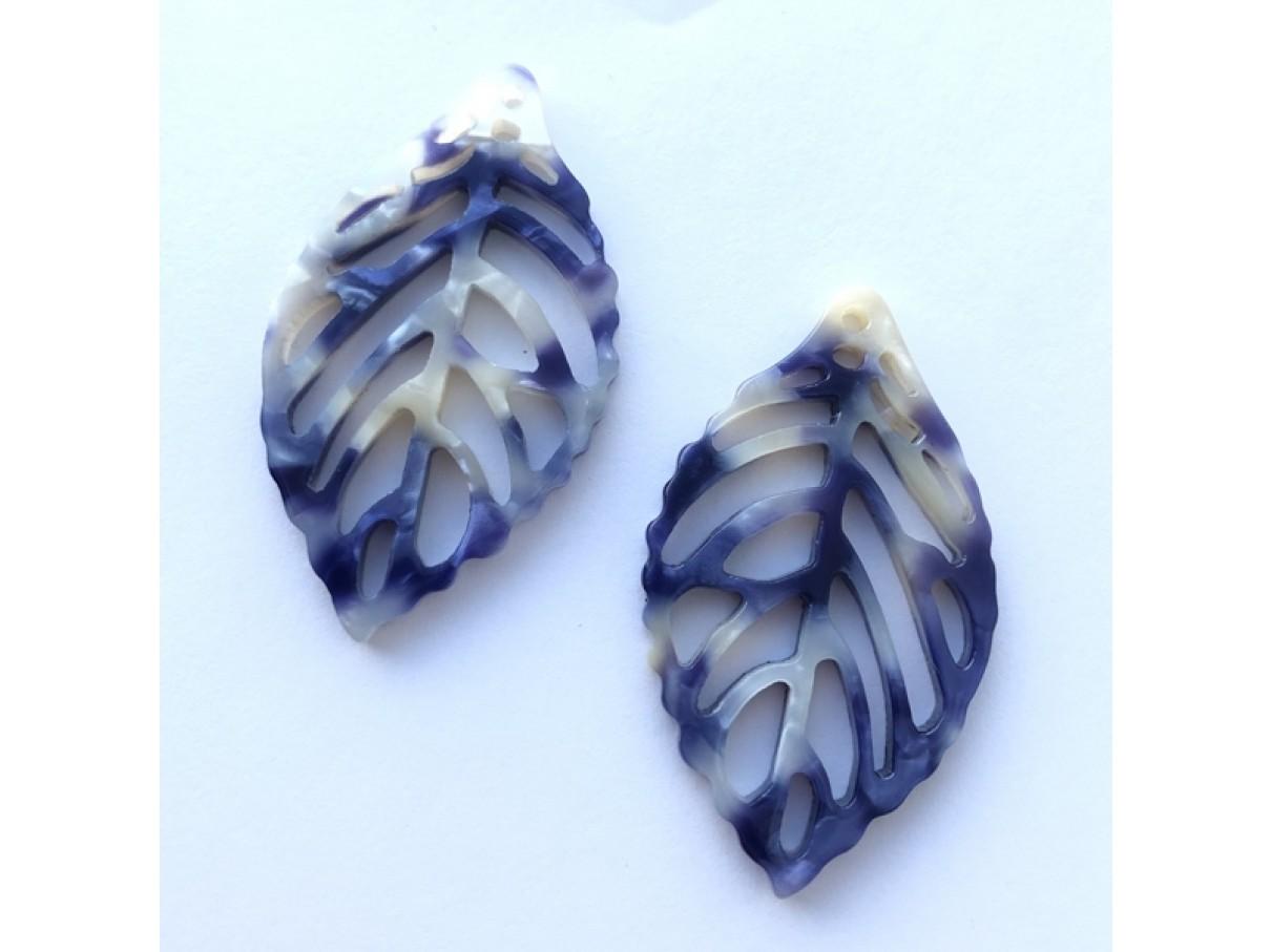 store bladvedhæng blå