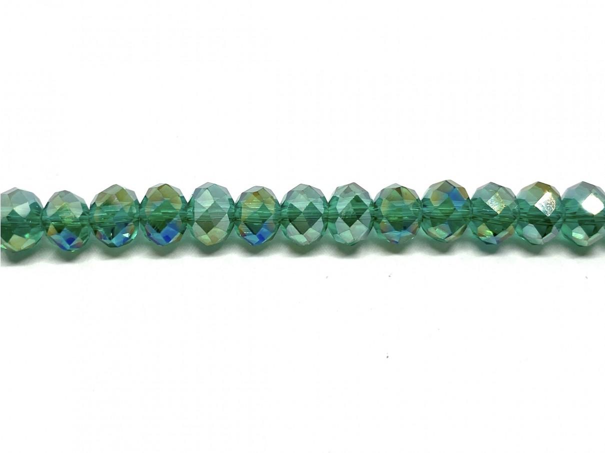 facetslebne grønne glasperler