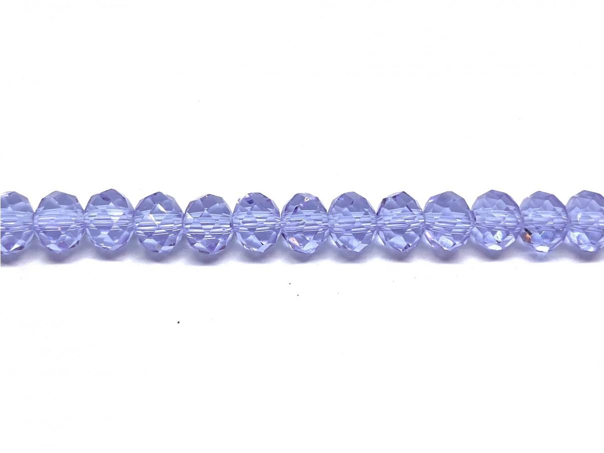 facetslebne klare lilla perler
