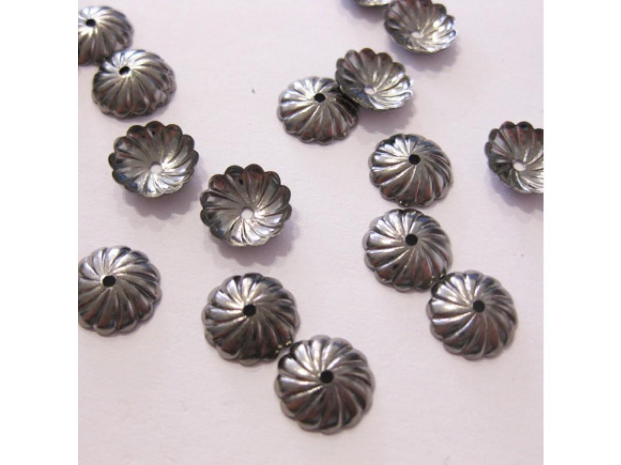 9mm gunmetal perleskåle, 20 stk
