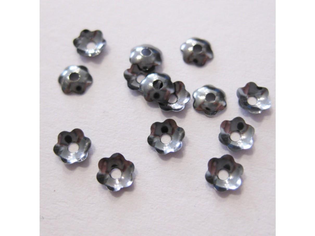 4mm gunmetal perleskåle, 100 stk