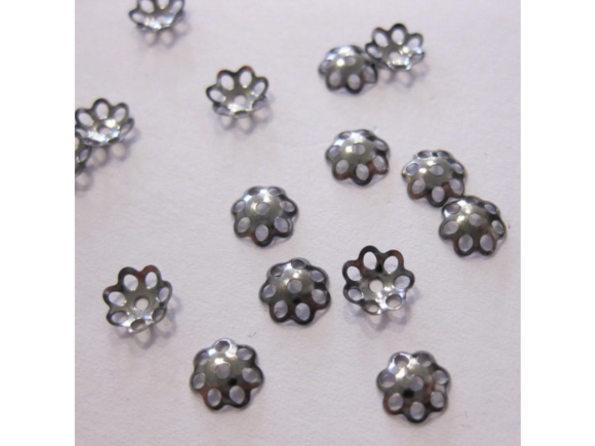 6mm gunmetal perleskåle, 100 stk