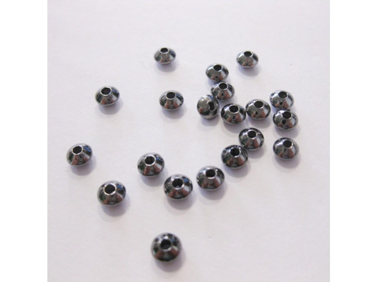 5x3mm gunmetal perler, 20 stk