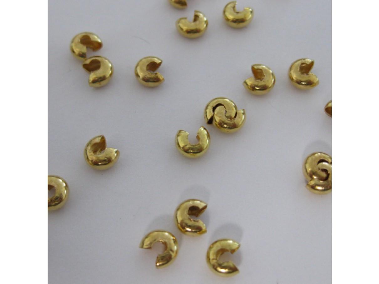 Guldbelagte wireklemmeskjulere 4mm