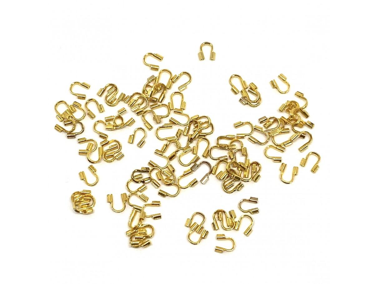 Wirebeskyttere, guldfarvet, 3g (ca 100 stk)