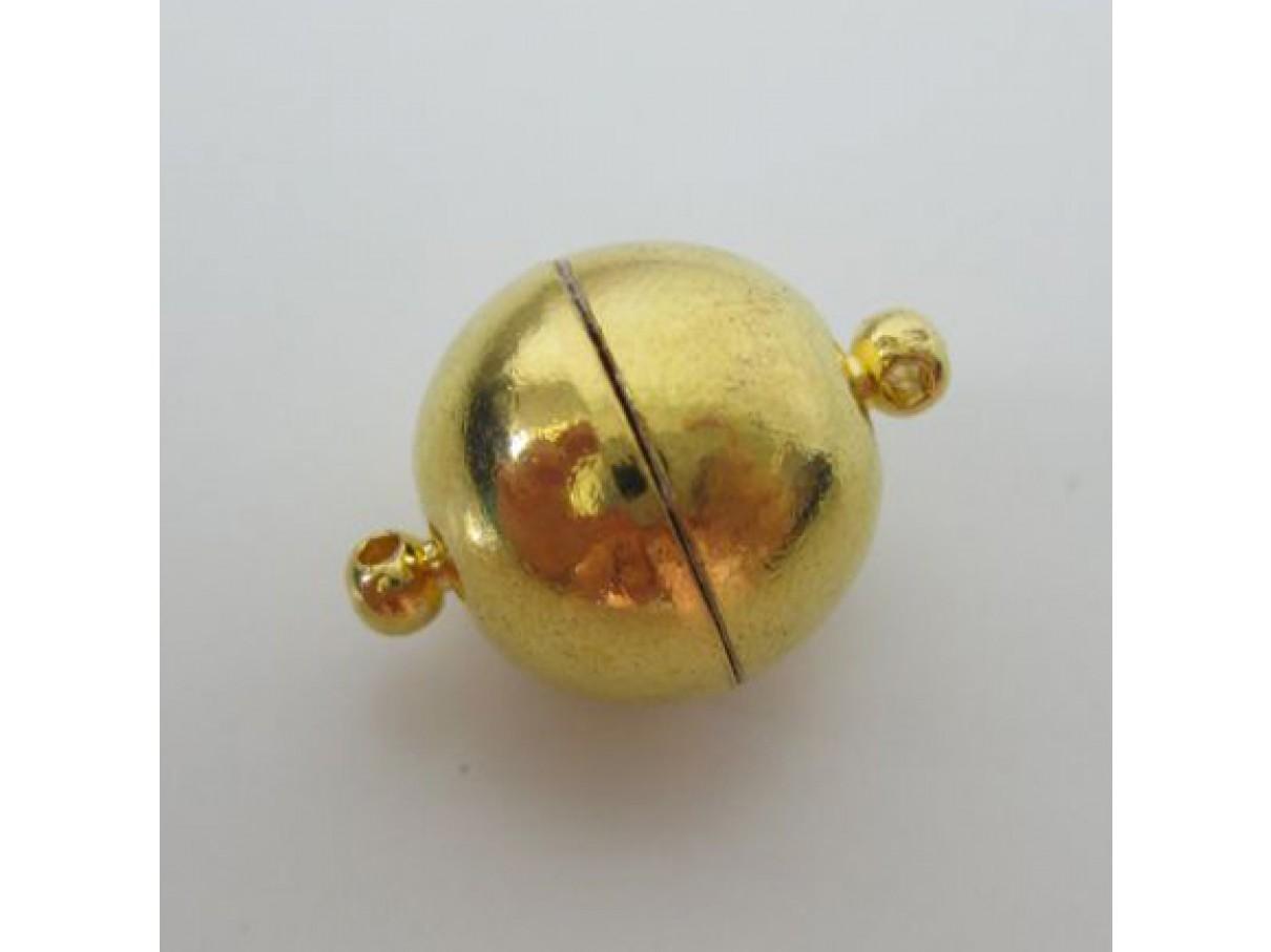 16mm guldbelagt magnet kuglelås
