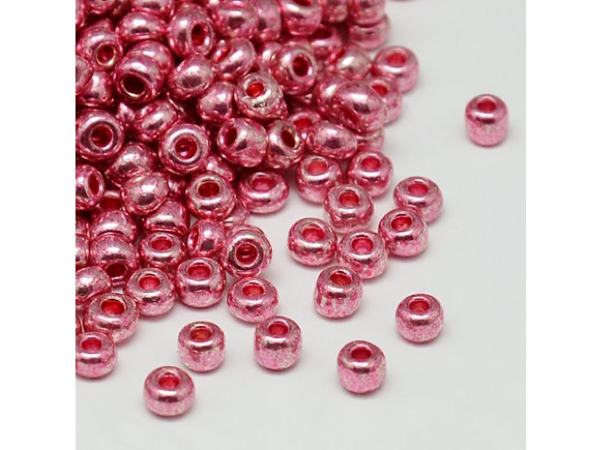 8/0 Glas seed beads, cerise 2-3mm, 10g
