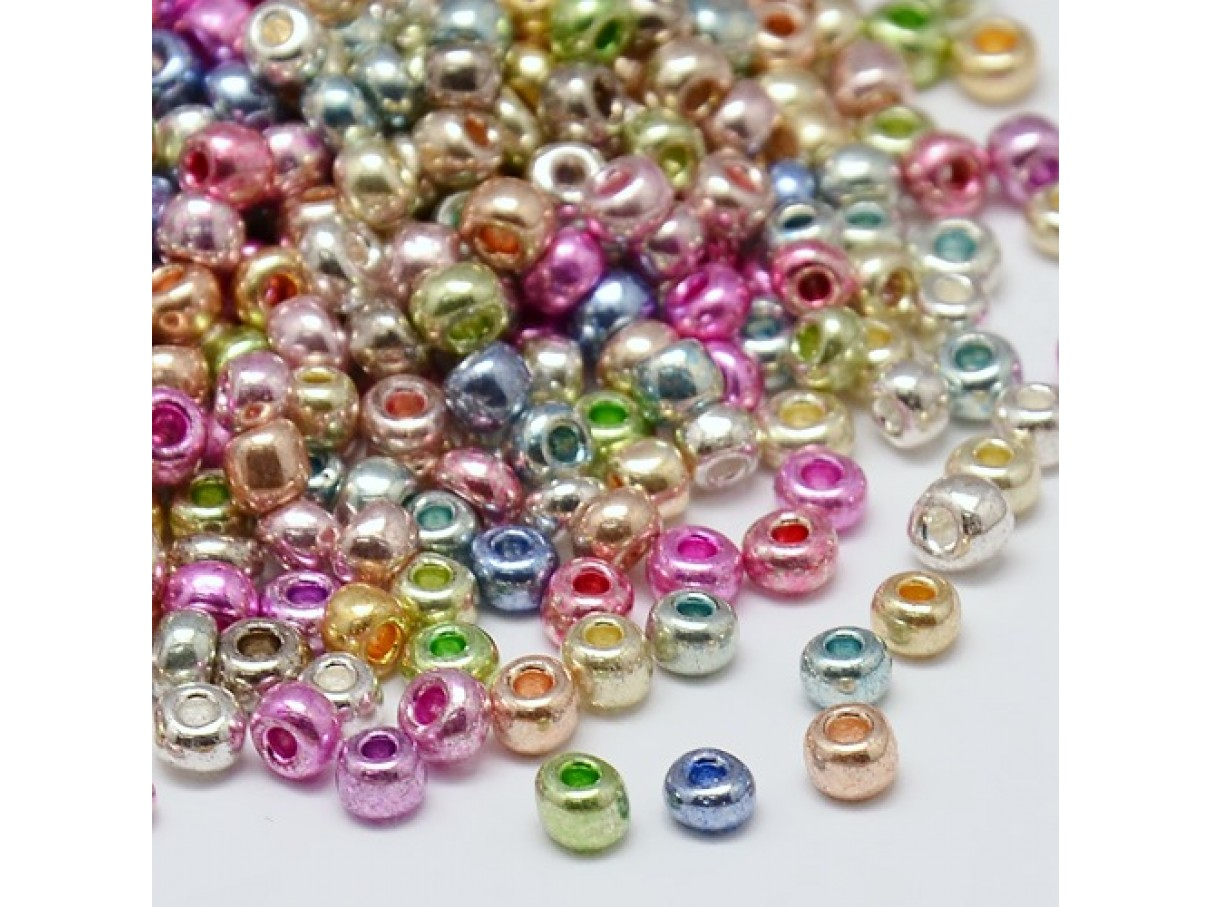 8/0 Glas seed beads, mixed color 2-3mm, 10g