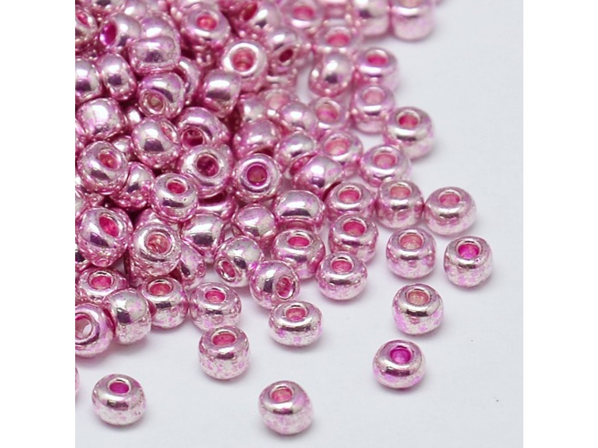 8/0 Glas seed beads, pearl pink 2-3mm, 10g