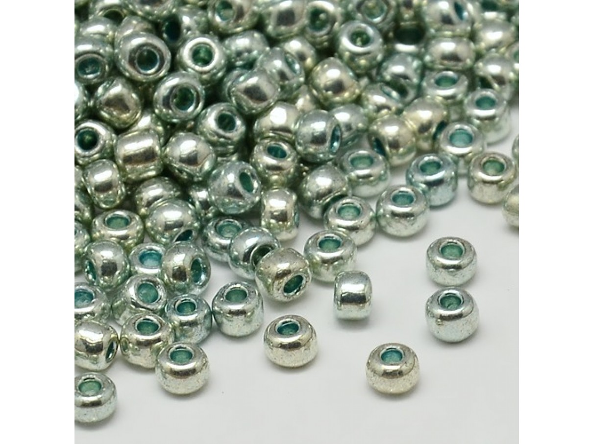 8/0 Glas seed beads, mint 2-3mm, 10g