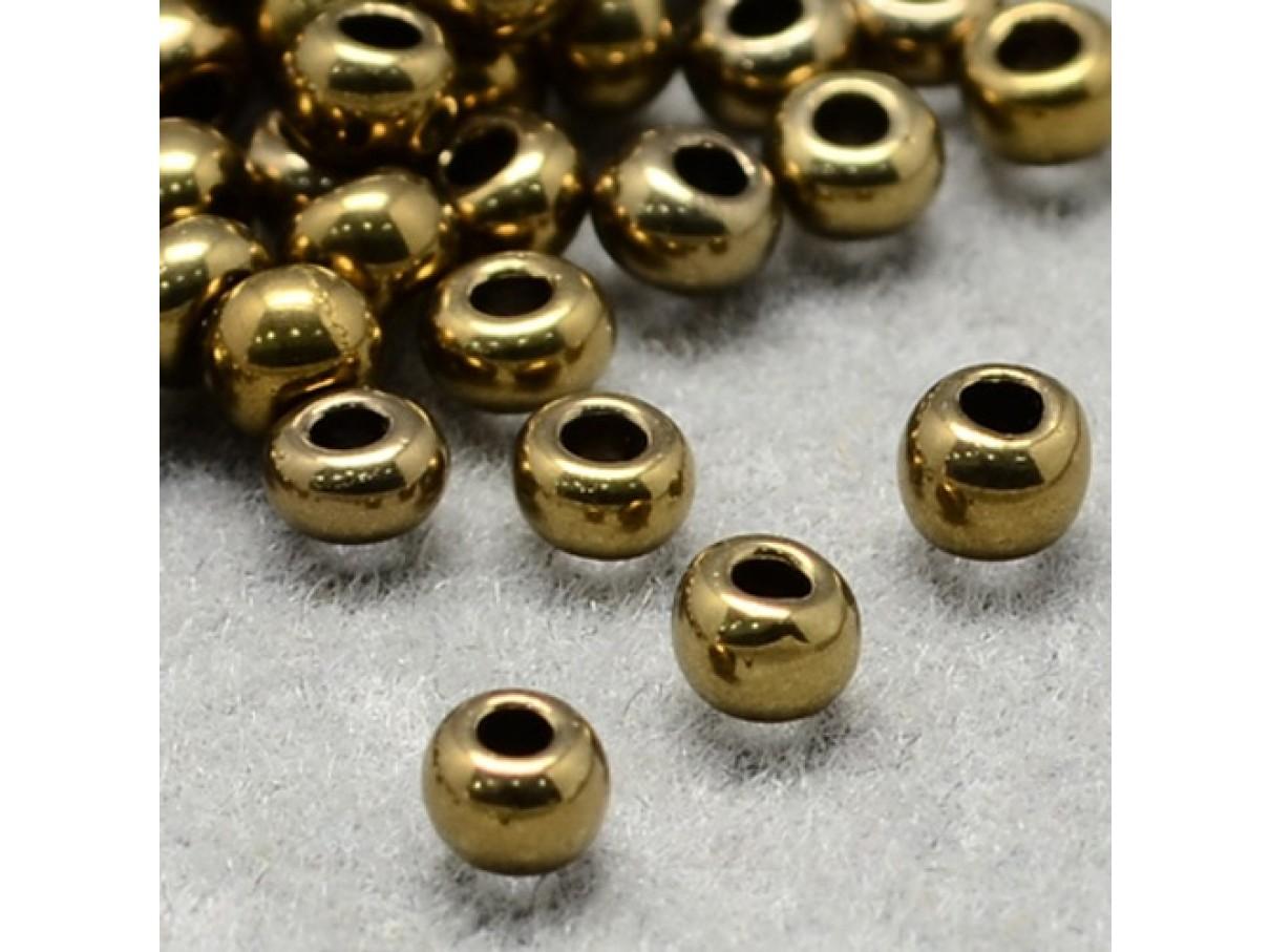 11/0 Glas seed beads, dark goldenrod 2x1,5mm, 10g