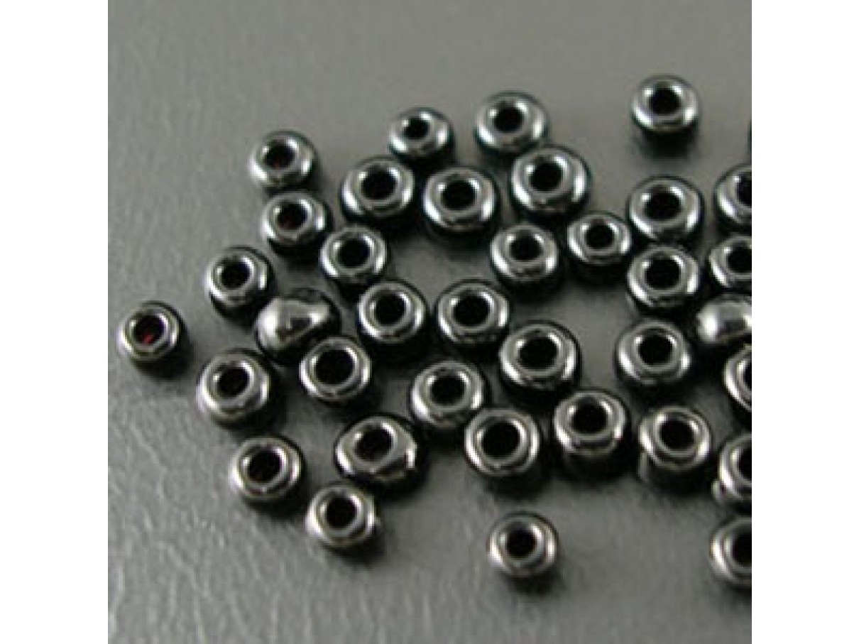 12/0 Glas seed beads, sort 2mm, 10g-0