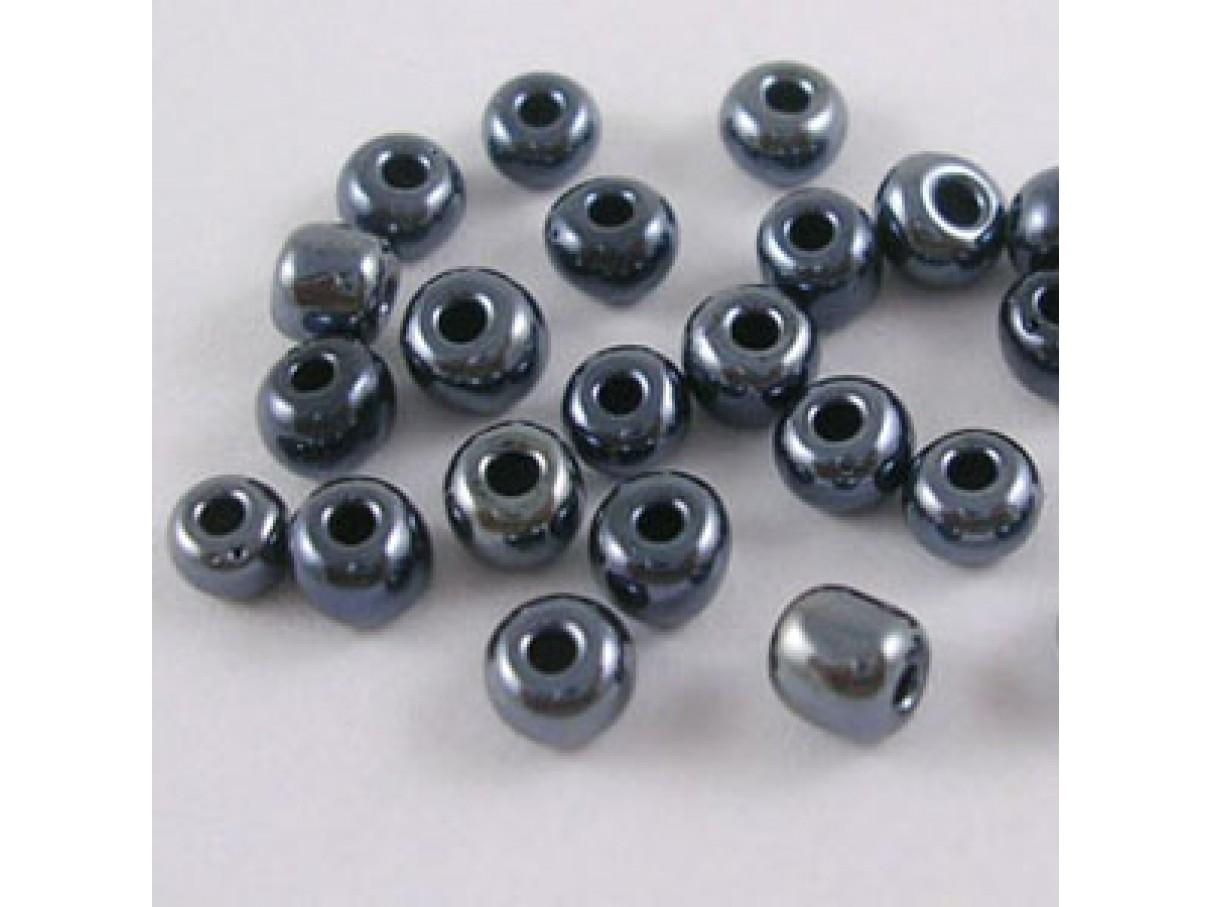 6/0 Glas seed beads, sort 4mm, 10g-0