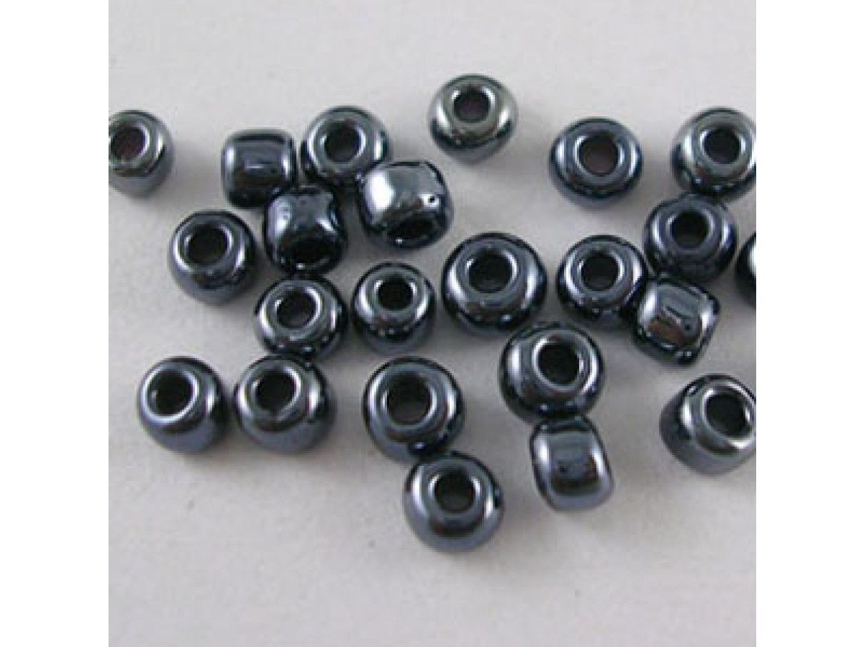 8/0 Glas seed beads, sort 2-3mm, 10g-00