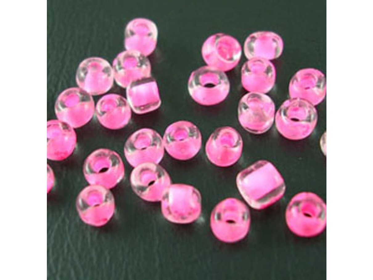 80Glasseedbeadshotpink23mm10g-0