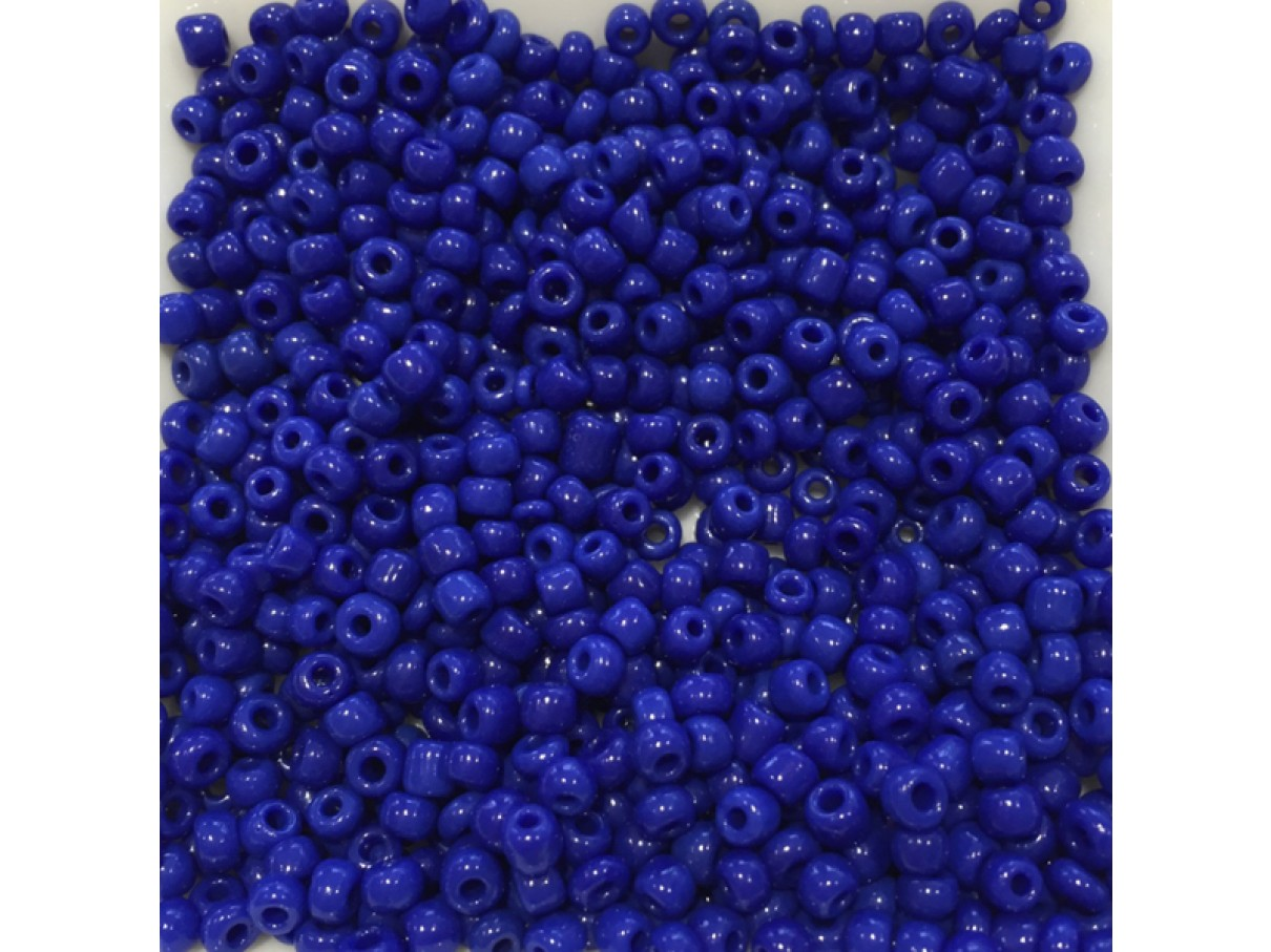 8/0 Glas seed beads, blå 2-3mm, 10g