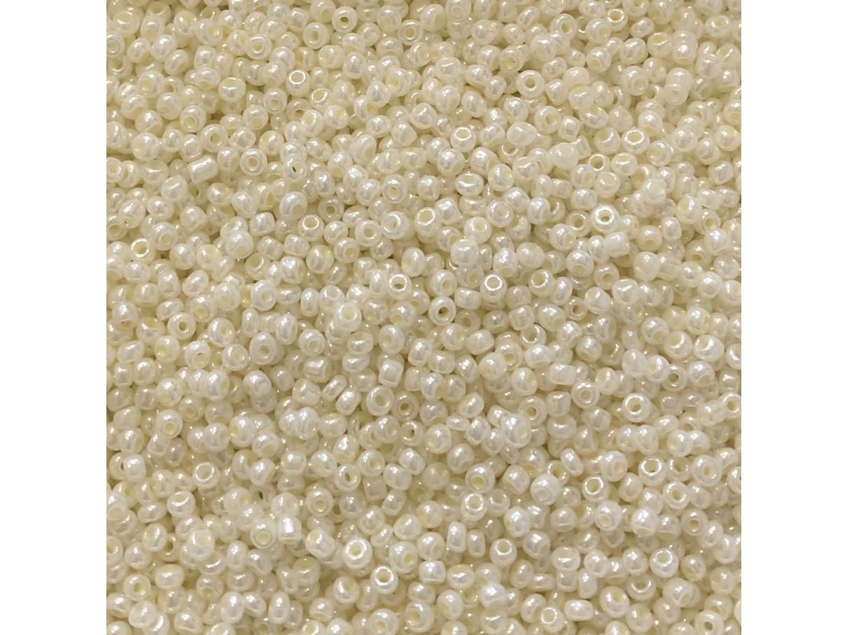 8/0 Glas seed beads, lemon chiffon 2-3mm, 10g