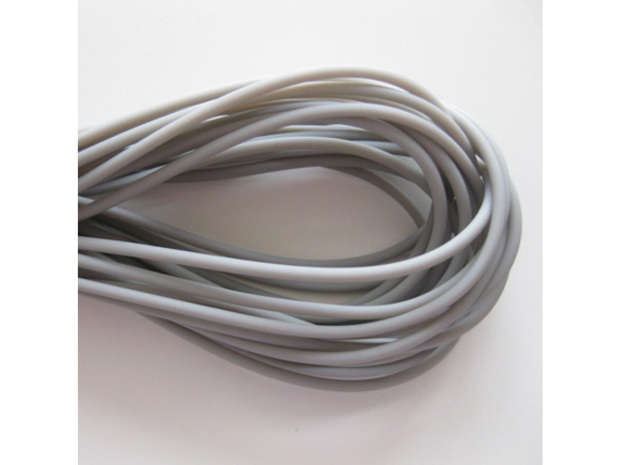 2mm hul gummi, grå 10m