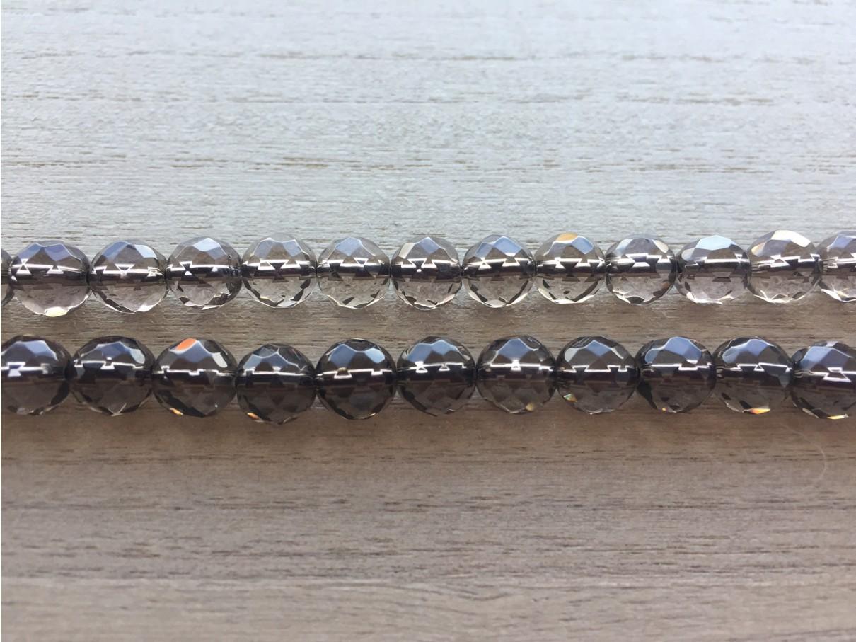 8mm røgkvarts perler
