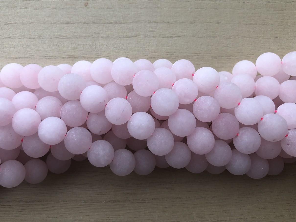 12mm matte rosenkvarts perler