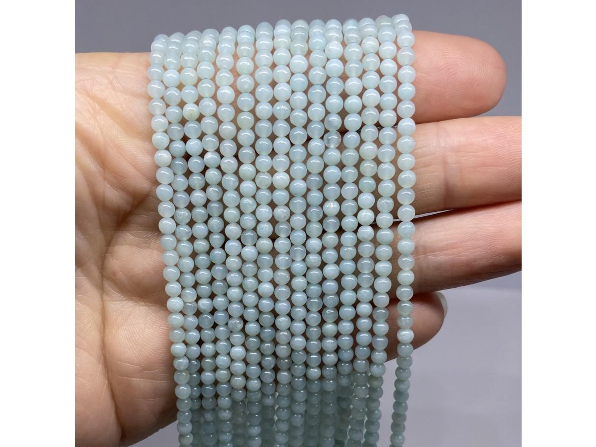 3mm amazonit perler