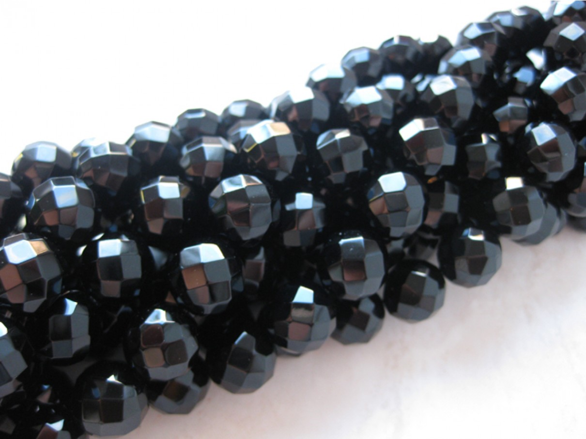 12mm facetslebet onyx