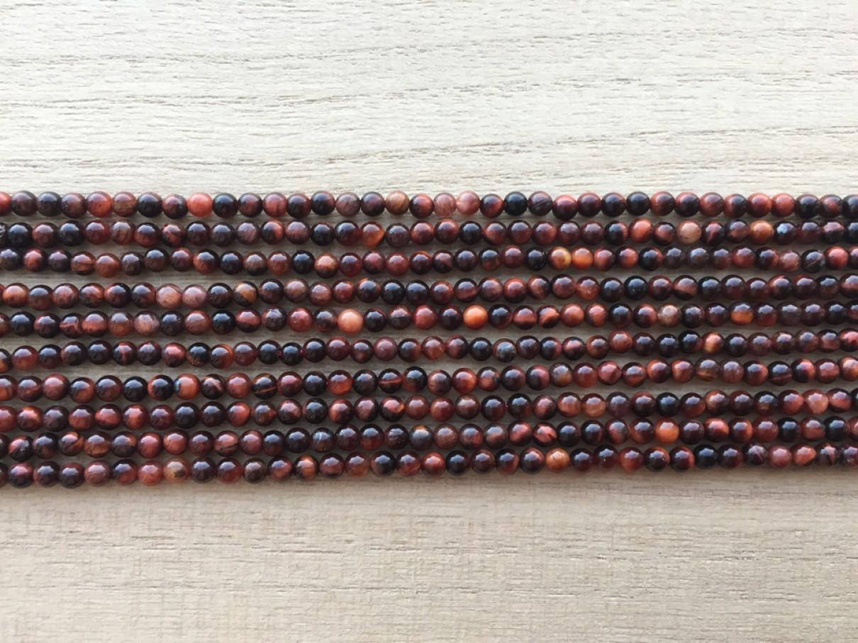 rød tigerøje perler