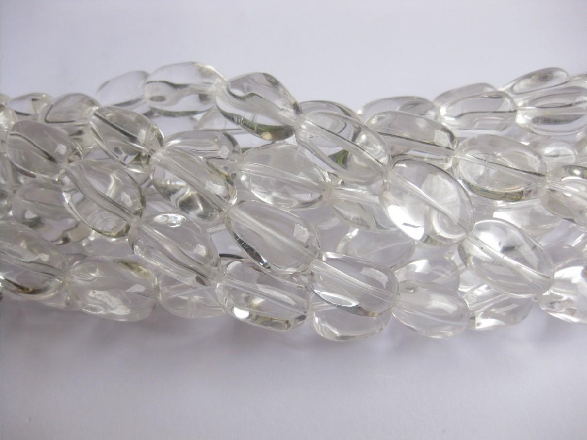 Klar krystal, polerede nuggets 13x18mm