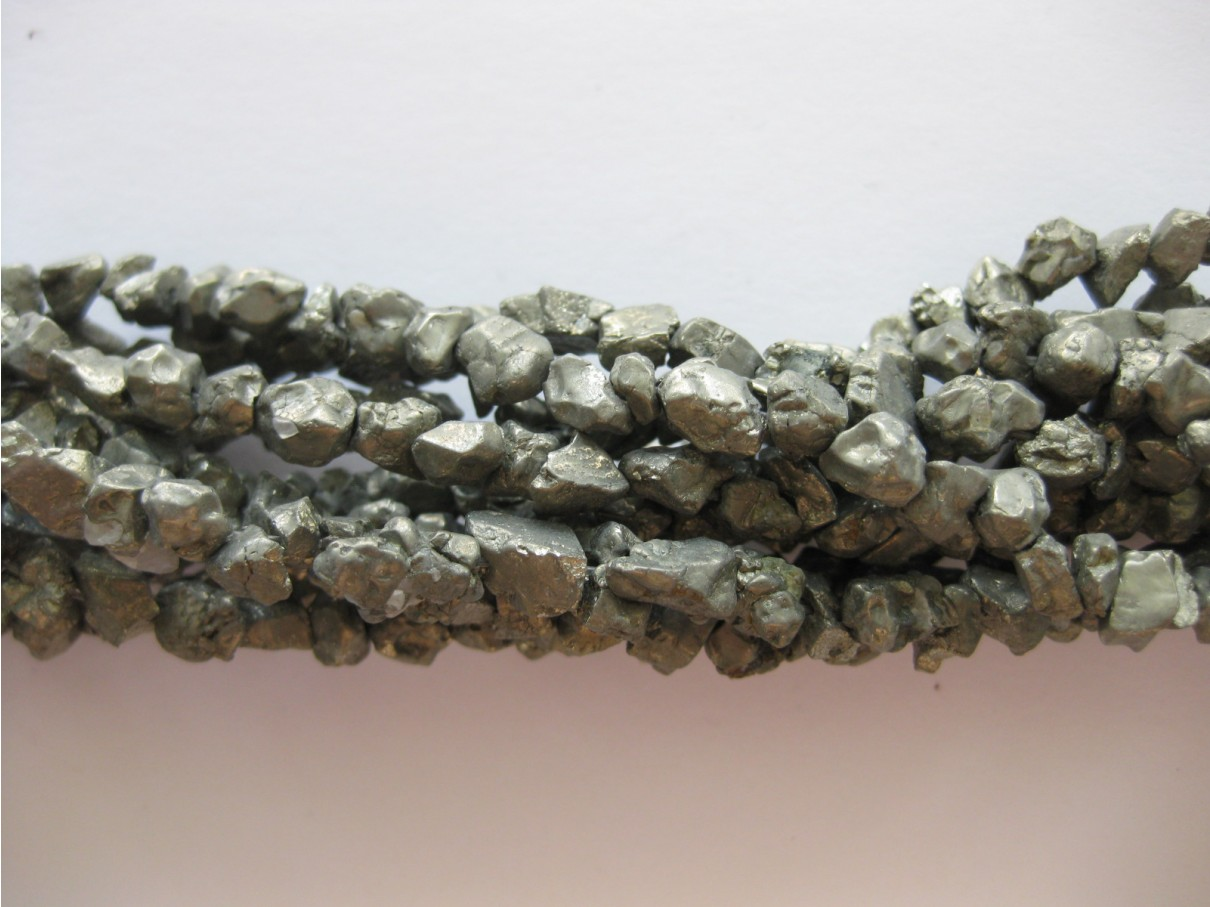 Pyrit, rå nuggets 4-6mm