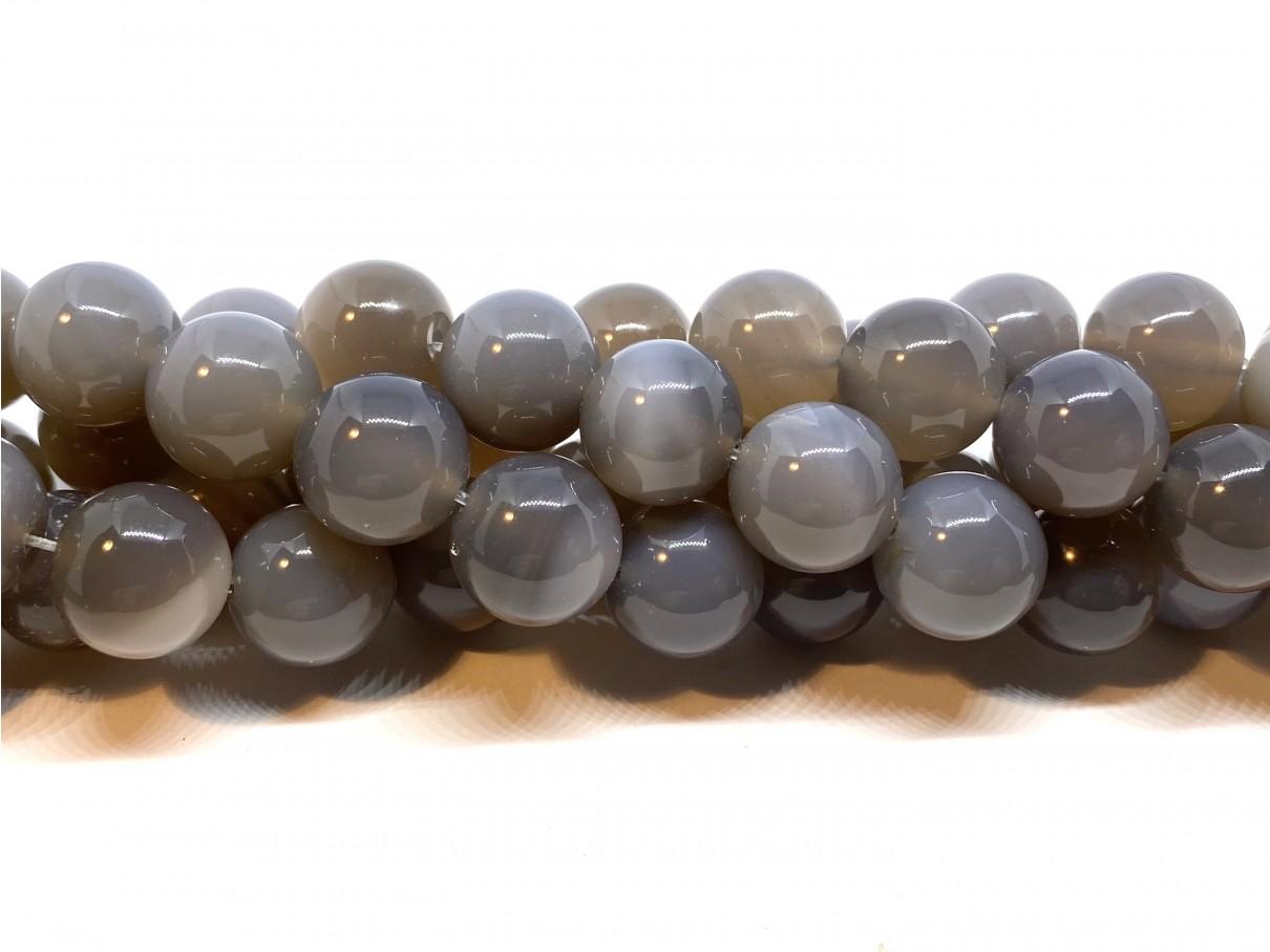 Grå agat, rund 16mm
