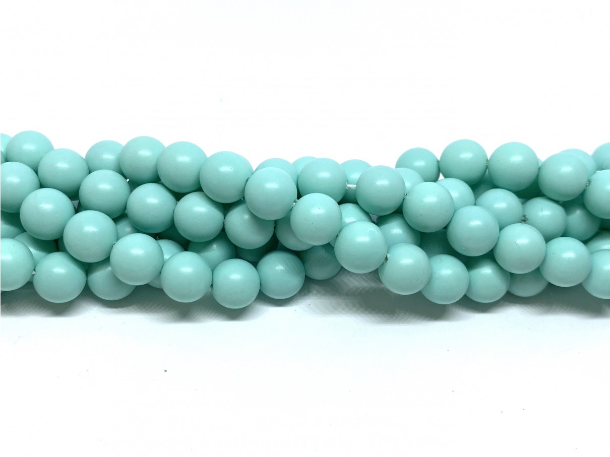 Frosted shell pearl, mint 8mm