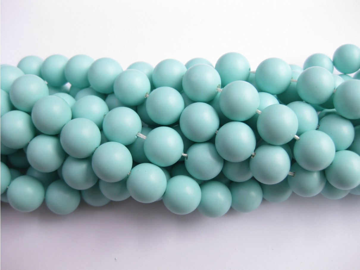 Frosted shell pearl, mint 10mm-3
