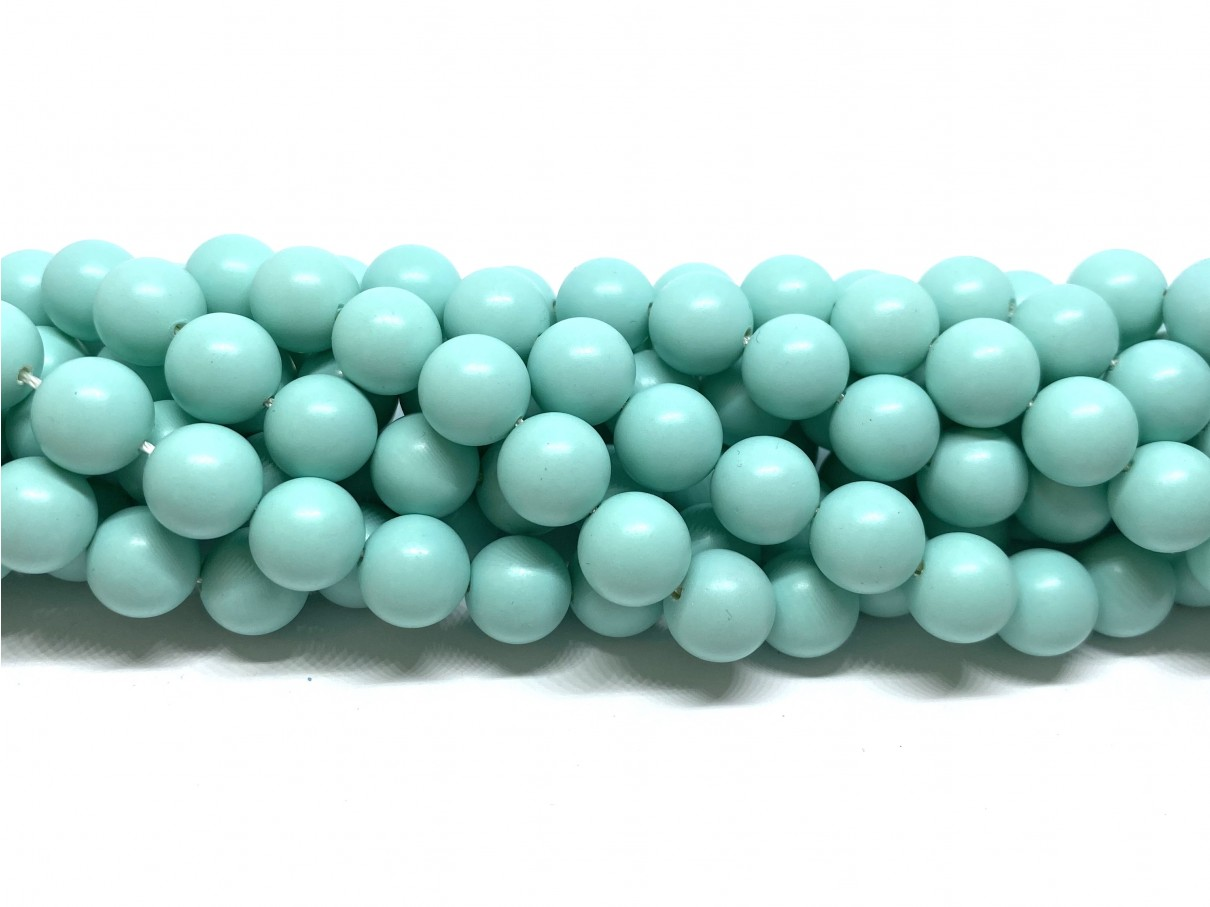 Frosted shell pearl, mint 10mm