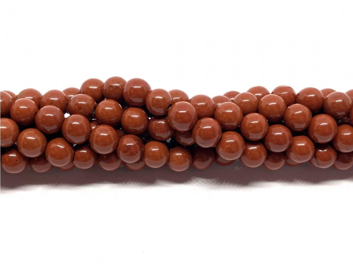 Red stone, rund 4mm, hel streng