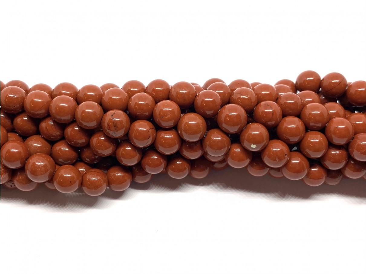 Red stone, rund 6mm, hel streng