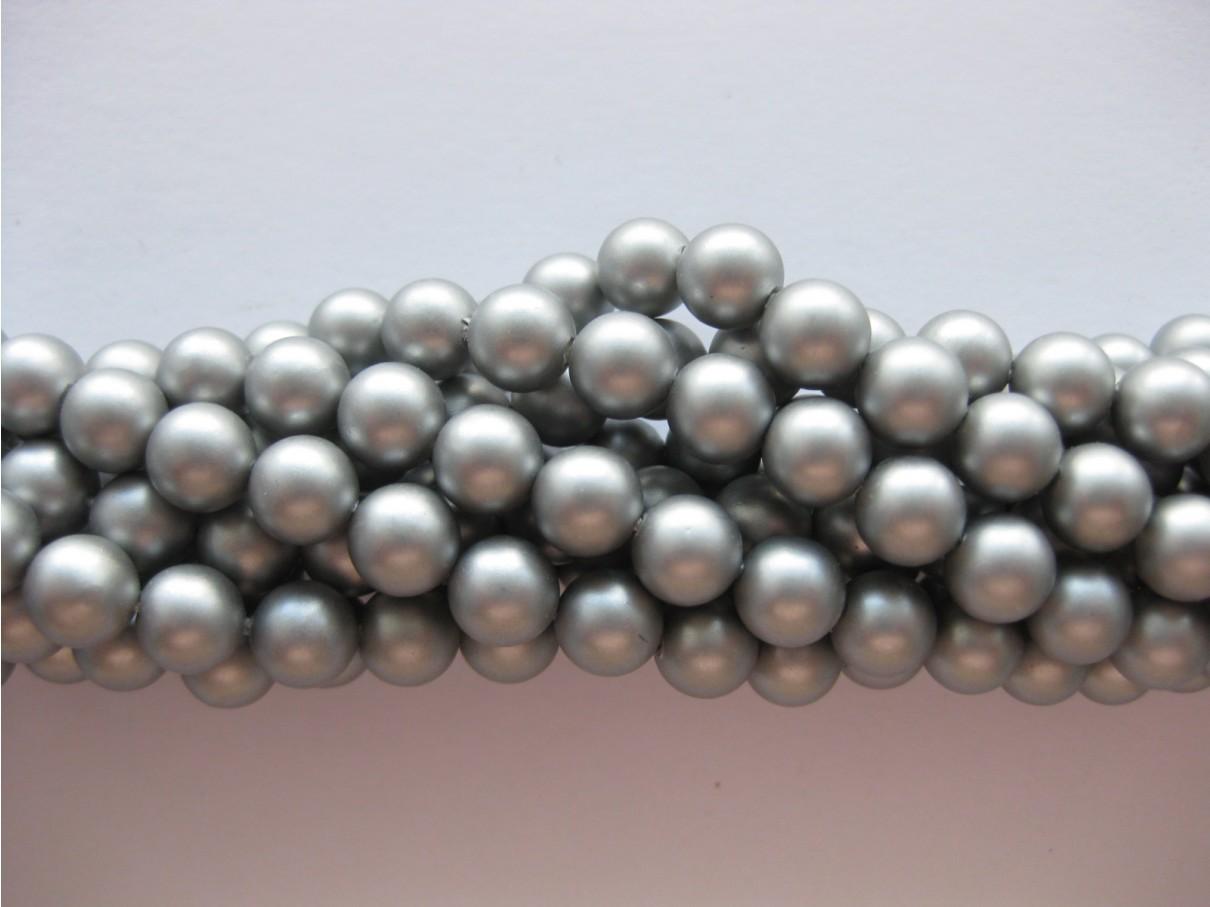 sølvfarvede shell perler