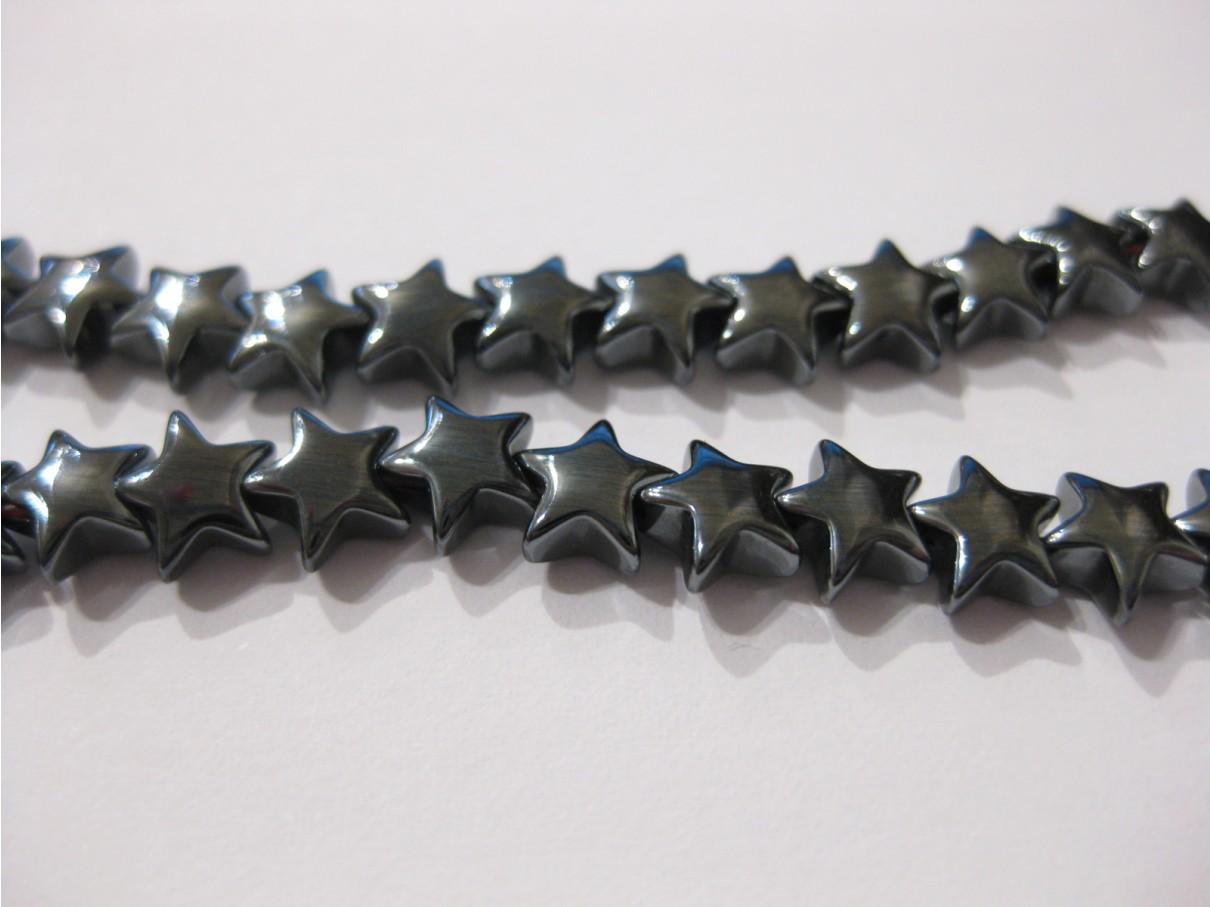 Hæmatit stjerner, 6mm puffy