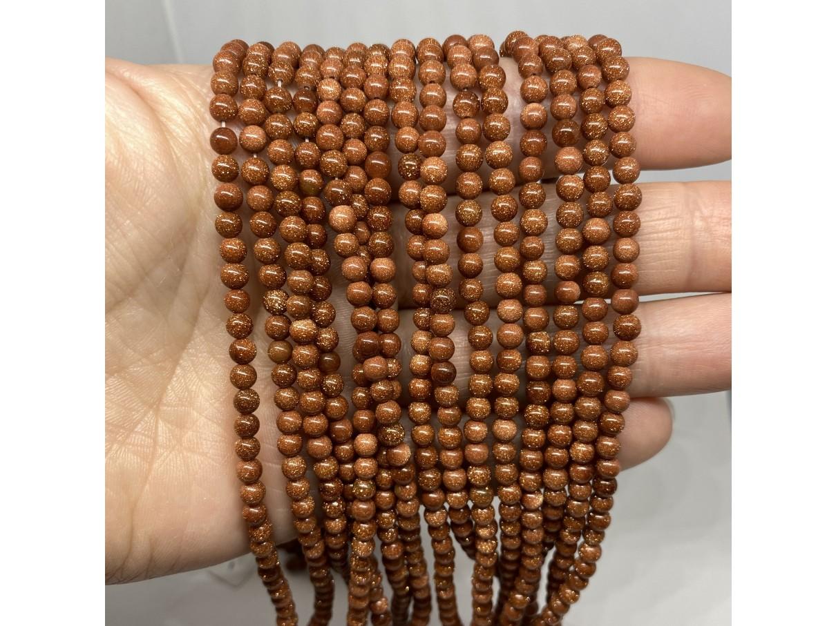 4mm goldstone perler