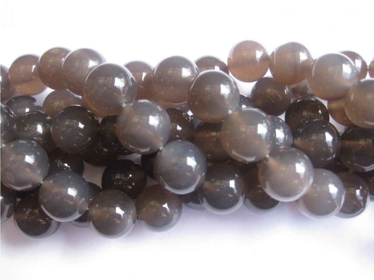 perler af 18mm grå agat