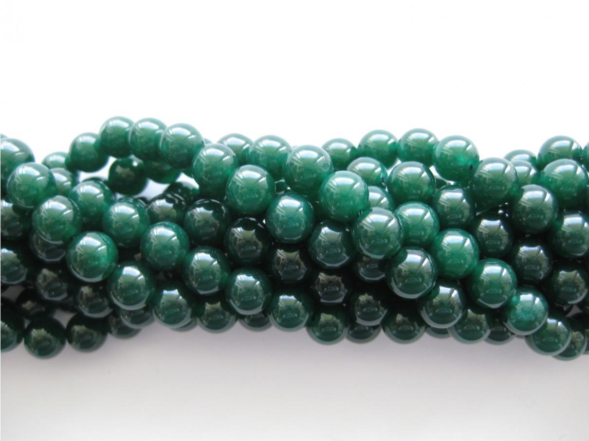 Emerald grøn jade, rund 8mm