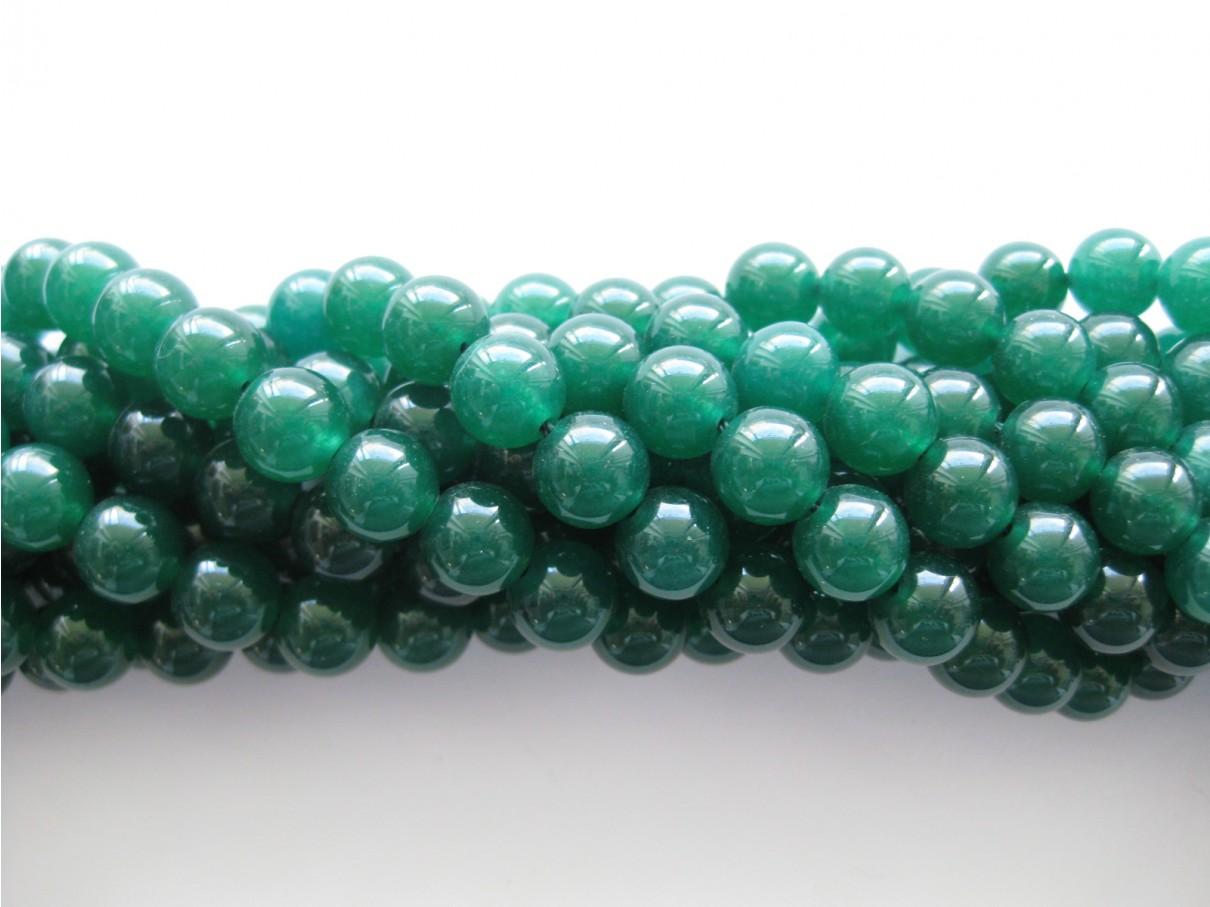 Emerald grøn jade, rund 10mm