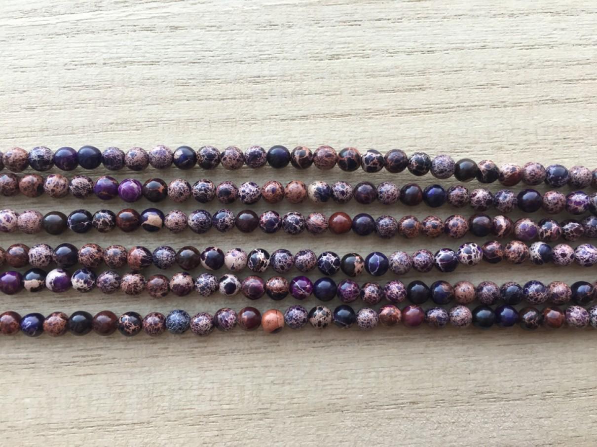 4mm lilla perler