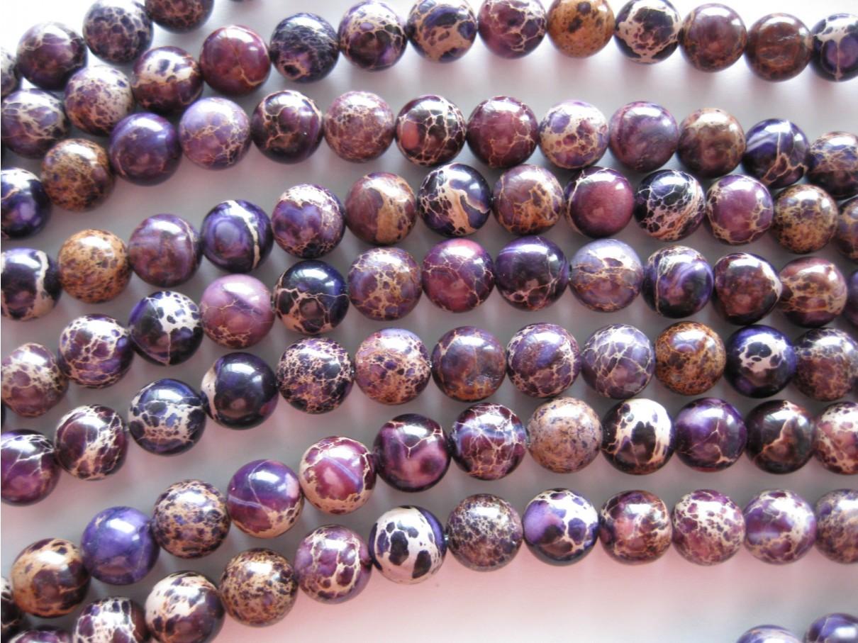 6mm lilla perler med mønster