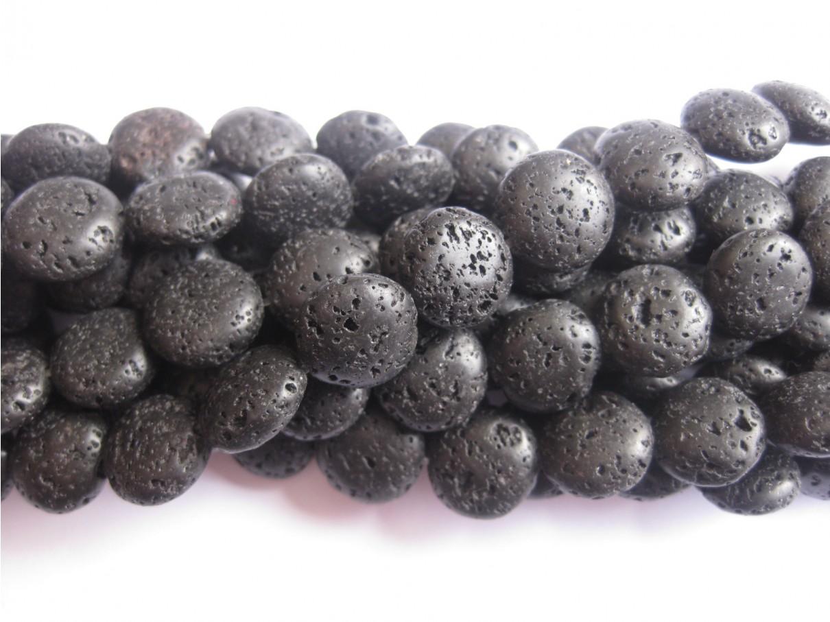 12mm mønt perler af lava