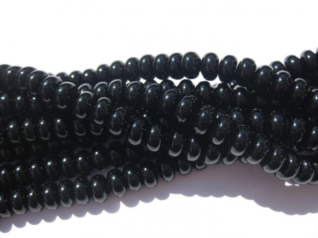 Onyx, sorte glatte rondeller 5x8mm